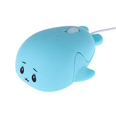Fashionable Cute Baby Dolphin Shape USB Wired Mouse 1600 DPI Optical Gaming Mice for PC Laptop Computer