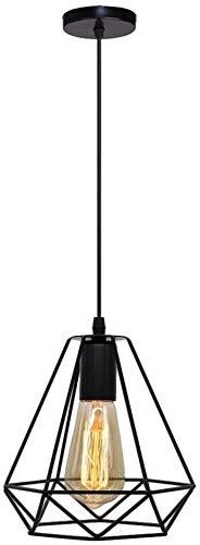 Pendelleuchten vintage lampen Geometrische hängende Industrial hängelampe,1 flammige deckenlampe im Retro Look,E27 Fassung max.40 Watt,deckenlampe hängend,120 * 20cm(Leuchtmittel nicht inklusive)