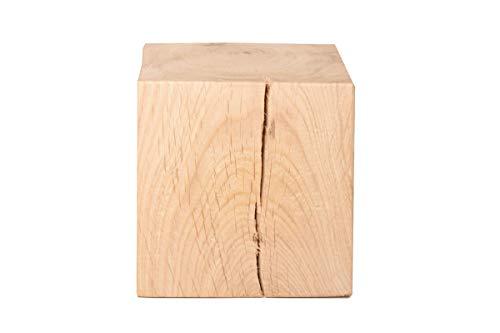 CreaTina Holzwürfel aus Eiche massiv in den Maßen ca. 10 x 10 x 10 cm