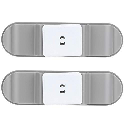 URRNDD Clip de Cable 2 Piezas con Organizador de Enchufe Adhesivo se Puede Pegar Horizontal o verticalmente Adecuado para la Oficina en casa