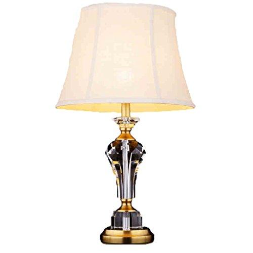 Uncle Sam LI- American Style Crystal Schreibtischlampe Schreibtisch Bett Kupfer Tischlampe Europäische Stil Modern Wohnzimmer Schlafzimmer Tischlampe (größe : S)