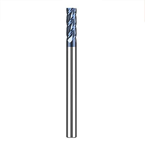 LOKIH Schaftfräser Zylinderschaft Schaftfräser 4 Zähne Wolfram Stahl Metall Fräser Bohrer High Performance Cutting in Voller Länge: 75 Mm,Diameter:4mm