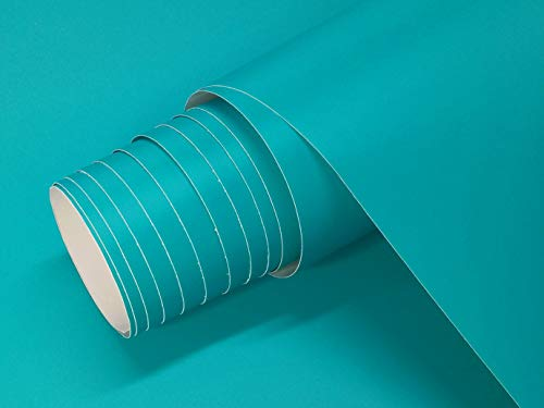 Vinilo Adhesivo Mate Colores Ancho 60 cm Para Muebles Cocina Paredes Ventanas Manualidades Papel Adhesivo Decorativo (TURQUESA, 2 UDS 60x120 cm)
