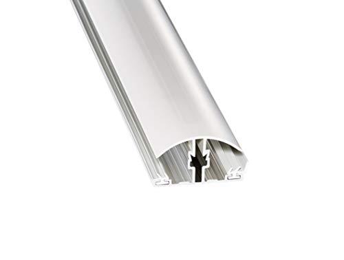 Stegplatte Verbindungsprofil Profile Mitte für 16mm Stegplatten Alu/PVC Klemmdeckel 3 Meter