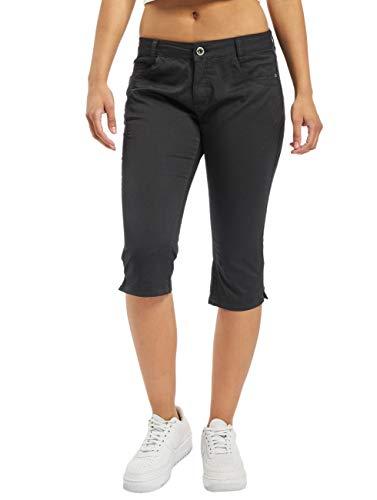 Sublevel Damen 3/4 Capri Stoff-Hose Stretch Dark-Grey S