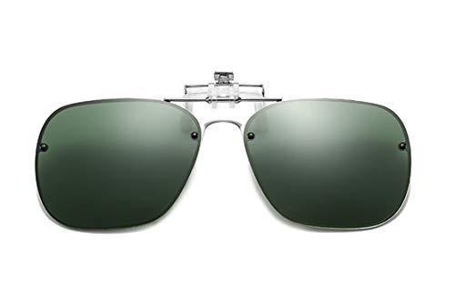 DAUCO Aufstecker Sonnenbrille für Brillenträger Überzieh-Sonnenbrille mit Brillen-Etui für Herren und Damen Sonnenbrillen-Clip