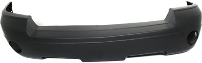 Front Bumper Cover Compatible with 2005-2007 Dodge Dakota Primed with Fog Light Holes