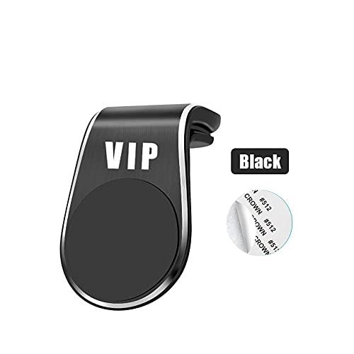 AOWIFT 1 unids Car Styling Phone Holder Imán Accesorio VIP para VWGTI Polo Golf Passat Sirocco Jetta Tiguan B5 B6 Air Outlet Clip (negro)