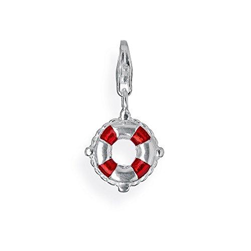 Heartbreaker Damen- Charm Lifebelt 925 Silber Brandlack HB 134