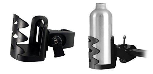 Lilware Bike Bottle Holder Multifunctionele fiets verticaal stuur flessenhouder. Fietshouder voor thermobeker, waterfles, theebeker en andere dranken. Licht en verstelbaar draagtasje. zwart.