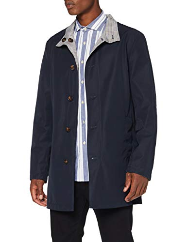 Cortefiel C6Cbi Impermeable Reversi Abrigo, Azul (Navy 10), Large (Tamaño del Fabricante:...