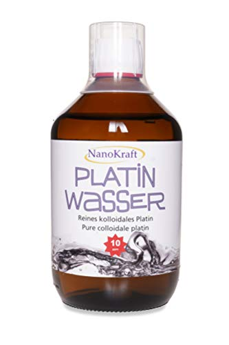 Kolloidales Platin 500ml / 10ppm | HVAC - Platinwasser hergestellt in Laborumgebung | Braunglasflasche | Messbecher | Hohe Konzentration | Bessere Wirksamkeit | Made in Austria