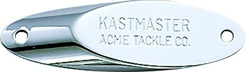 Acme SW1381-CH Kastmaster Fishing Lure with Bucktail Teaser, 3/8-Ounce, Chrome Finish