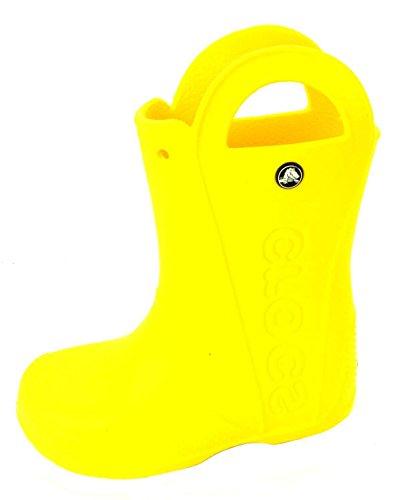 Crocs Handle It Rain Boot K, Botas de Agua Unisex Niños, Amarillo (Yellow), 27/28 EU