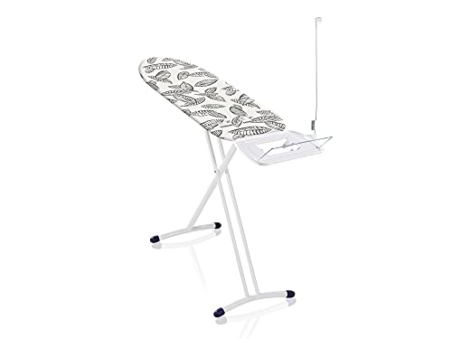 Leifheit Bügeltisch Air Board Express L Solid ideal für eine Dampfstation, Bügelbrett mit Baumwollbezug, Dampfbügelbrett mit ultraleichter Bügelfläche