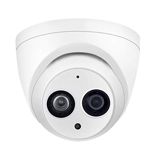 4MP PoE IP Security Camera IPC-HDW4433C-A 2.8mm Lens,4 Megapixels Home Outdoor Network Surveillance Camera Dome with Built-in Mic for Audio,IR Night Vision,H.265,IP67 Waterproof