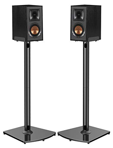 Universal Speaker Stands with Cable Management Holds Satellite & Bookshelf Speakers to 22lbs (i.e.Polk Yamaha Edifier...