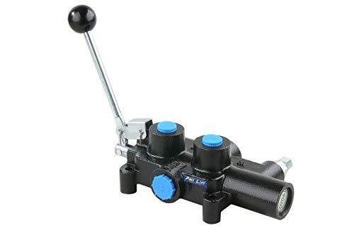 Pro-Lift-Werkzeuge 4/3-Wege-Ventil Handhebelventil Steuerventil z.B. für doppeltwirkende Zylinder, ideal für Holzspalter