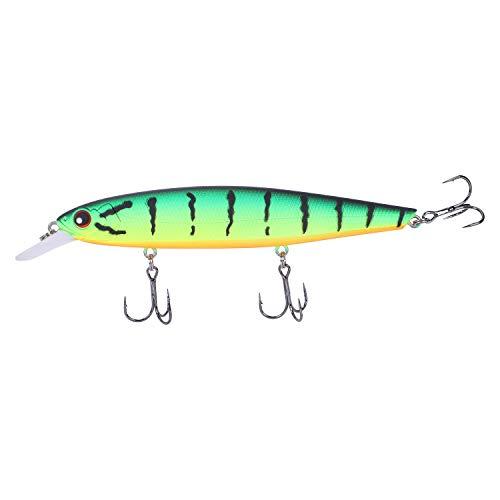 CUHAWUDBA Seefischerei Lockt Minnow 14cm 24g Qualit?t Professionelle Harte Stick K?der AngelNn ger?t Kunstk?der Grün Farbe