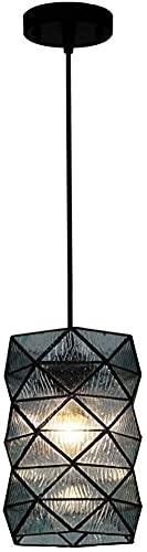 ZGYZ Luces Colgantes Modernas Simples nórdicas,lámpara Colgante de Cristal de una Sola Cabeza,lámpara de decoración de Barra de café de Loft Ajustable en Altura