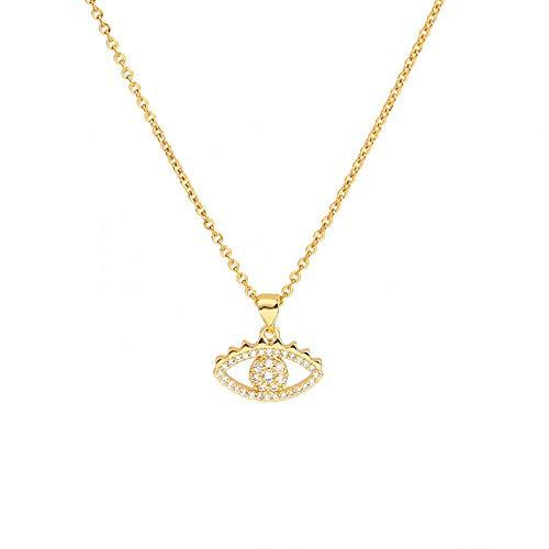 EDCV Fashion roestvrij stalen ketting oog hanger ketting dames sieraden cadeau 45 cm lang,