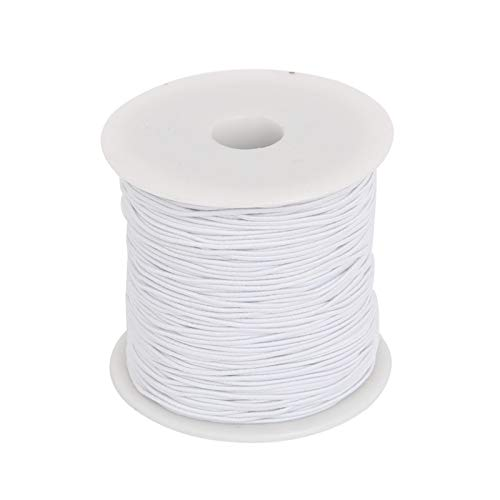 LIUYB 0.8mm 1.2mm 1.5mm Nylon Cable elástico Hilo Cuerda Cuerda de Cuerda Alambre de Abalorios para joyería Fabricación de Bricolaje Pulsera Collar Hallazgos (Color : Blanco, Talla : 1.2mm 50meter)
