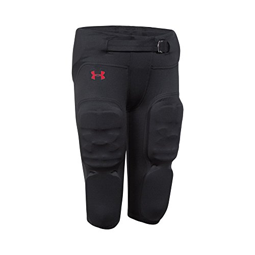 Under Armour Boys' Integrated Vented Football Pants, Black /Graphite, Youth Small