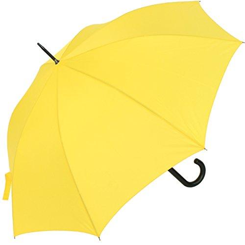 RS-Stockschirm groß stabil für Damen und Herren mit Automatik- gelb