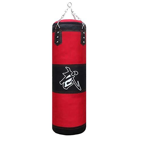 PopHMN Boxsack, ungefüllter leerer Hochleistungs-Boxsack DREI Schichten hängende Kick-Bag mit Boxhandschuhen hängende Kette