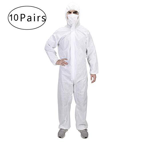 FJLR beschermende kleding voor badjas, isolerend, wegwerpbescherming, veelzijdig bruikbaar, antistatisch, stofdicht