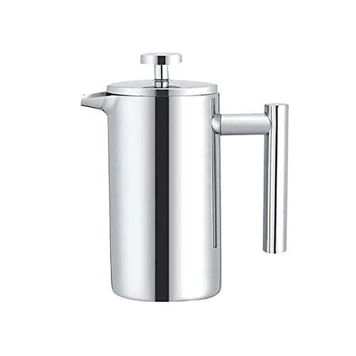 YMMY AYDD 304 Acero Inoxidable Presión Francesa Pote Hecho a Mano Pote de té, Capacidad: 350ml