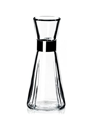 Rosendahl, Designer Wasserkaraffe aus bleifreien Glas und Edelstahl in Klar, 90 cl