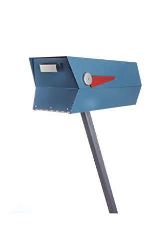 modbox USA Mid-Century Modern Curbside Mailbox | One Color (Satin Blue)