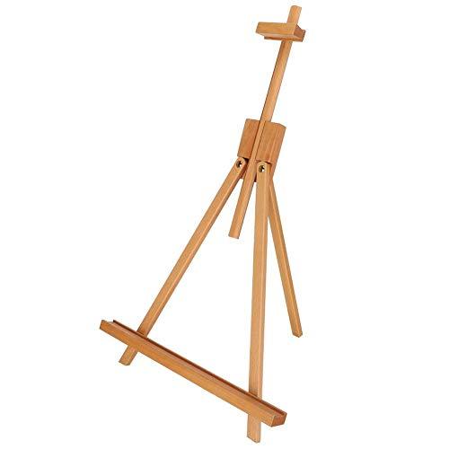 Un cadre en bois chevalet 28.7in haut de table en bois peinture pliante chevalet trépied affichage de publicité de bureau peinture à l'huile