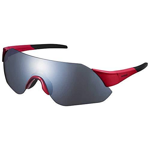 SHIMANO Gafas Mirror Y21, Adultos Unisex, Red w/Smoke Silver (Multicolor), Talla Única