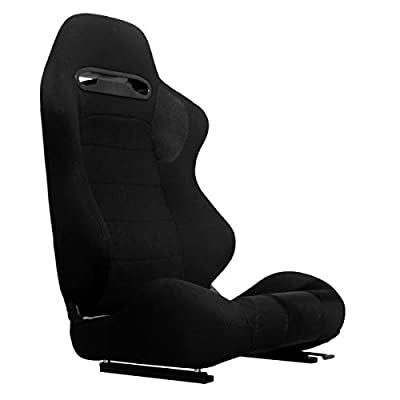 Marada Racing Seat with Adjustable Slide (Black)