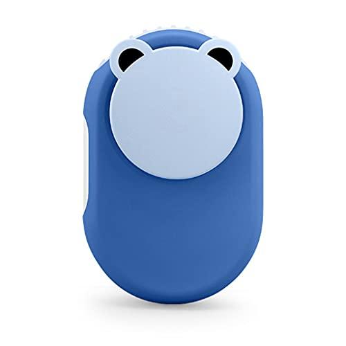 CAREMiLLE Ventilador portátil de Manos Libres Ventilador Personal USB Recargable Mini Ventilador portátil 3S Refrigeración rápida para niños Oficina Viajes Deportes, Mini Ventilador Plegable, Azul