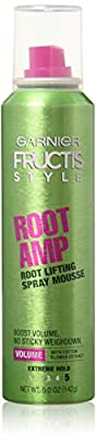 Garnier Fructis Root Amp Root Lifting Spray Mousse, 5 oz