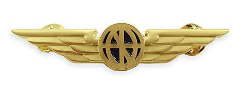 Luso Aviation Pilot Wings Aviator's Shirt Lapel Pin (Gold)