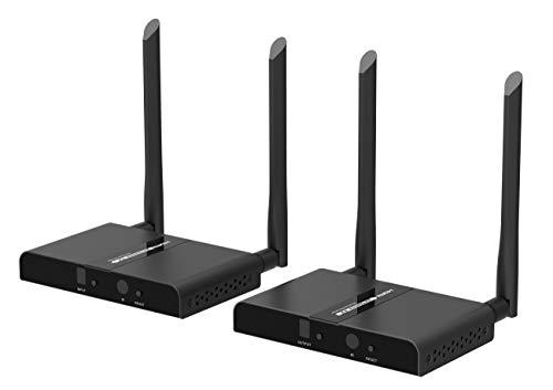 Premium Cord - Extensor inalámbrico HDMI en 100 m de Banda de 5,8 GHz Que Permite la conexión Matriz de 2 transmisores y 2 receptores, Full HD 1080p de resolución de vídeo