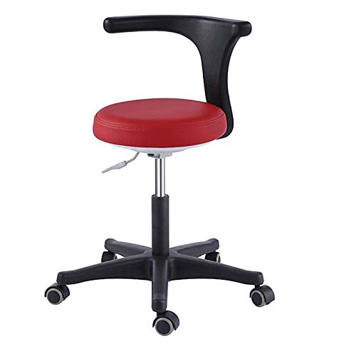 First Dental Micro Fiber Leather Nurse Stool Medical Assistant Chair Height Adjustment Mobile Office Chair