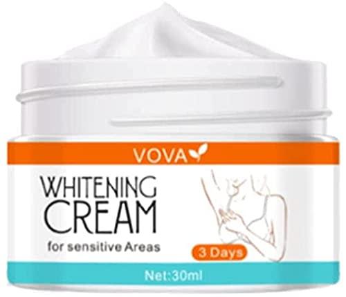 Vova Crema blanqueadora blanqueadora para blanquear la piel, Crema blanqueadora corporal Crema blanqueadora para blanquear la piel, Blanqueamiento instantáneo eficaz para axilas, axilas