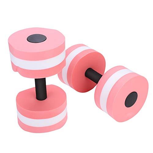 Mancuerna de agua, mancuerna de agua portátil para fitness, para moldear el cuerpo, para acondicionar el cuerpo, para aumentar la fuerza(Pink)