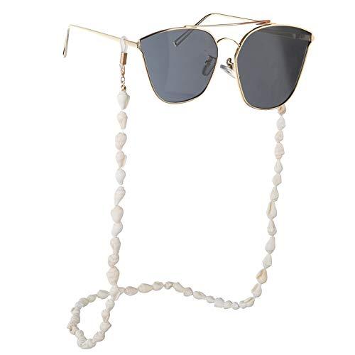 Hifot Cadena de Gafas, Concha de la Lente de la Correa de Gafas de Sol Gafas Estilo Playa Cuerda de Gafas Hombre Mujer Niños