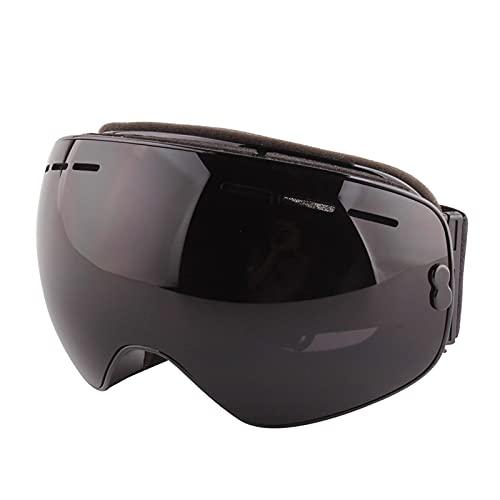 Tmpty Gafas de esquí para hombre, de doble capa, antivaho, para mujeres, adultos y jóvenes (color: negro, tamaño: 17 cm)