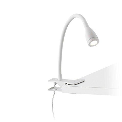Faro Barcelona 41021 LOKE-2 LED Lampe avec pince blanche
