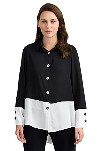 Joseph Ribkoff Black & Off-White Blouse Style 201173 - Spring 2020 Collection (16)