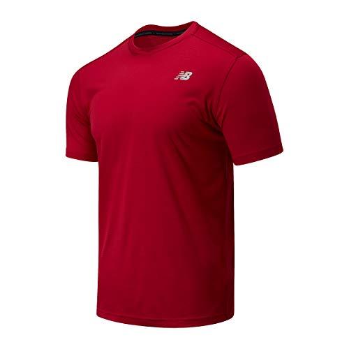 New Balance MT03203 Cami Shirt, Vino, XL Mens