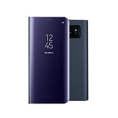Aursen Custodia Samsung S8 Plus Cover a Specchio Samsung Galaxy S8 Plus Ideale per porteggere Telefono - Blu Scuro