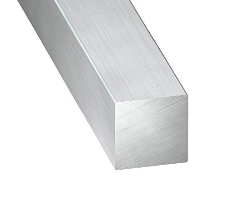 CQFD - Cuadrado de aluminio en bruto (10 x 10 mm, 1 m)